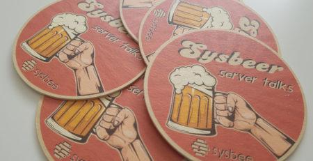 sysbeer beer coaster