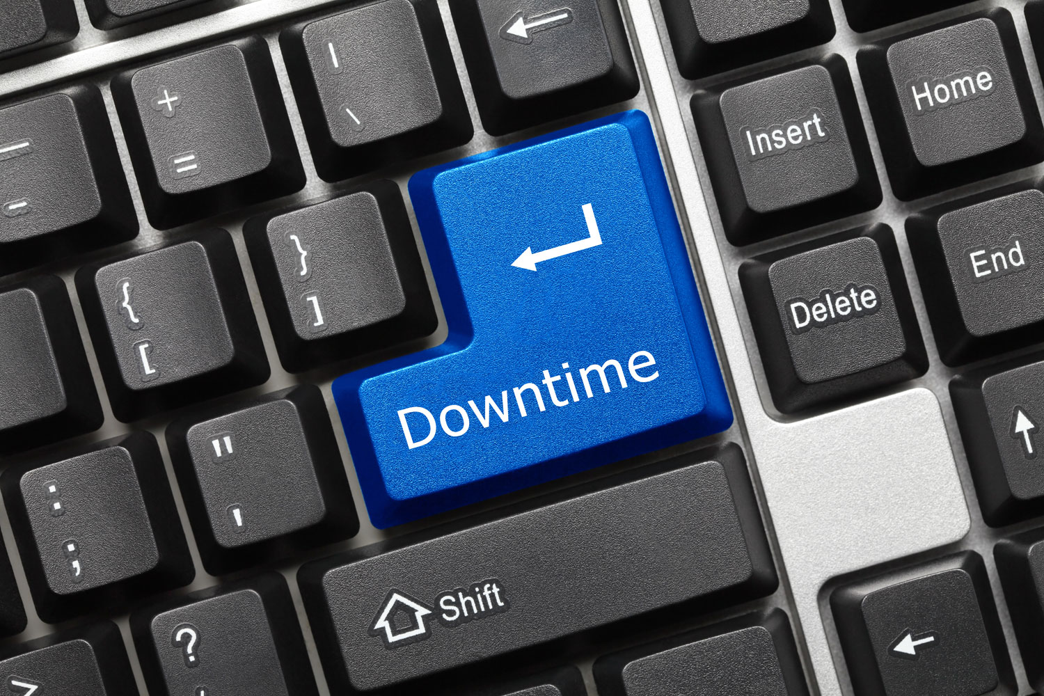 keyboard with downtime key
